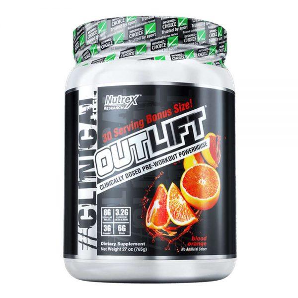 Outlift Pre-workout là sản phẩm hỗ trợ cả thiện sức mạnh chính hãng giá rẻ tốt nhất hiện nay. Outlift là sản phẩm tăng sức mạnh được phân phối độc quyên của hãng Nutrex. Sản phẩm nhập khẩu chính hãng, cam kết chất lượng, giá rẻ nhất tại Hà Nội & Tp.HCM.