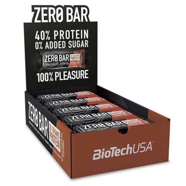 Zero Bar - Protein Bar nhập khẩu và phân phối chính hãng. Với hàm lượng Protein cao, chủ yếu là Whey Protein Isolate. Không gây béo, không chứa đường, phát triển cơ bắp hiệu quả.