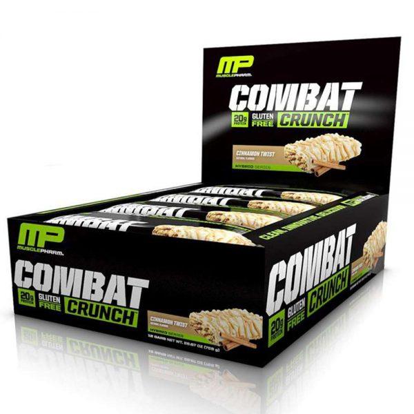 MusclePharm Combat Crunch Bar là sản phẩm bánh protein thay thế bữa ăn phụ giúp cho người tập thể hình có thể mang đi mọi lúc mọi nơi sử dụng tiện lợi dễ dàng. MusclePharm Combat Crunch Bar nhập khẩu chính hãng, cam kết chất lượng, giá rẻ nhất tại Hà Nội & Tp.HCM.
