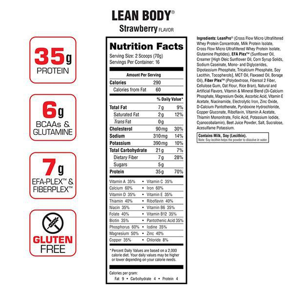 Lean Body 4.6lbs 30 servings 3