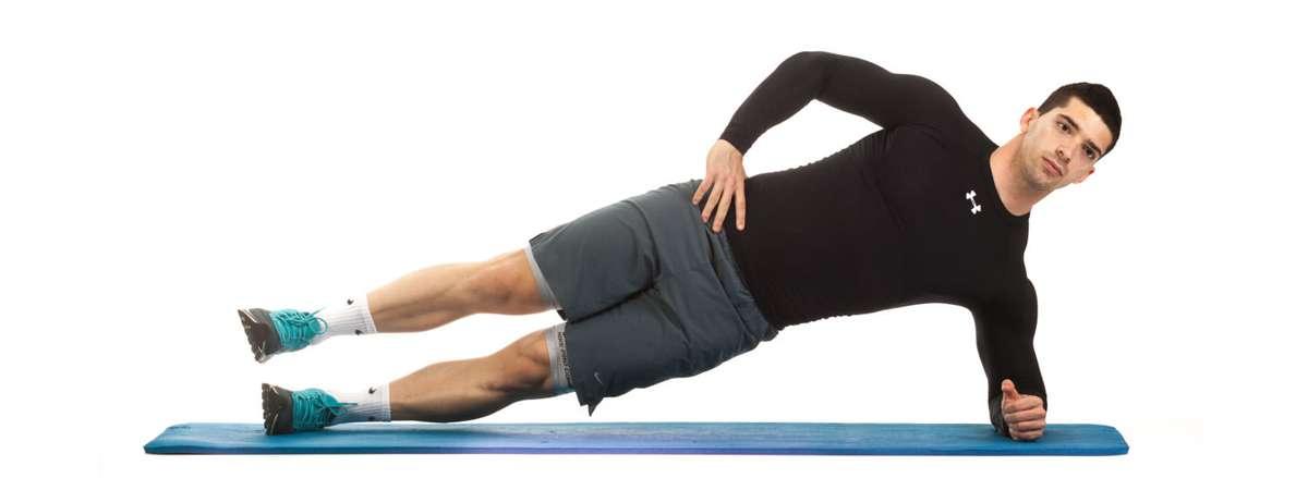 30 bai tap workout tai nha giam can hieu qua Kneeling Side Plank with Hip Abduction