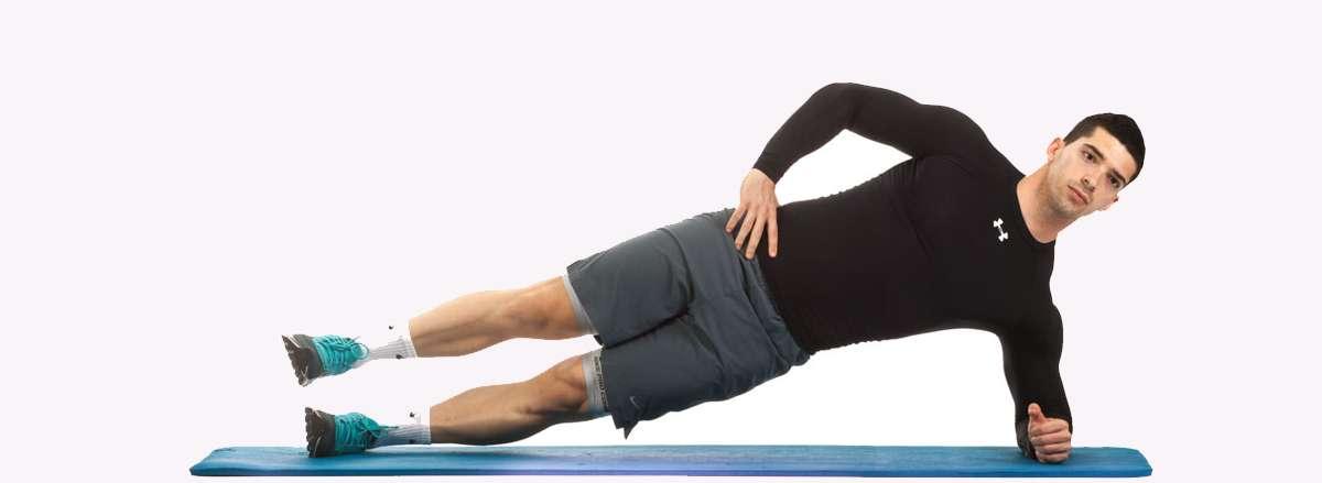 30 bai tap workout tai nha giam can hieu qua Side Plank with Hip Abduction