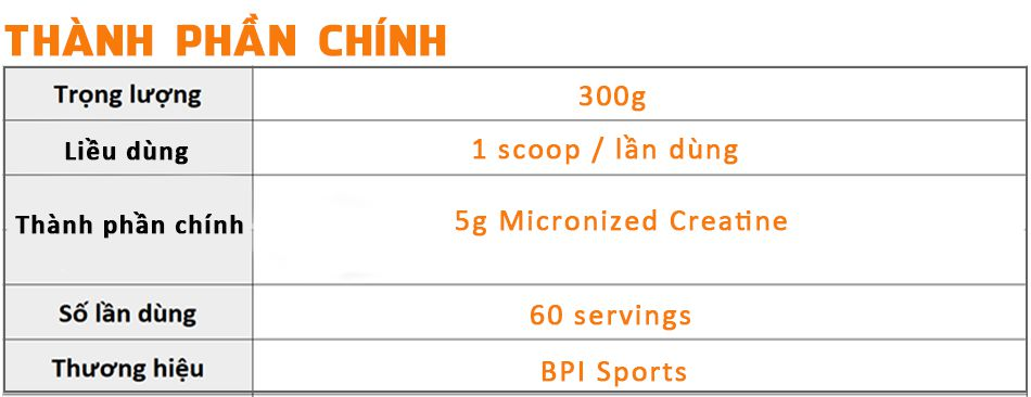 BPI creatine 300g tang co tang suc manh gia re chinh hang WHEYSHOP VN1