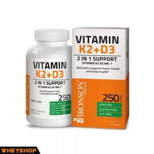 Bronson Vitamin k2 D3 250 vien bao ve xuong khop hieu qua WHEYSHOP