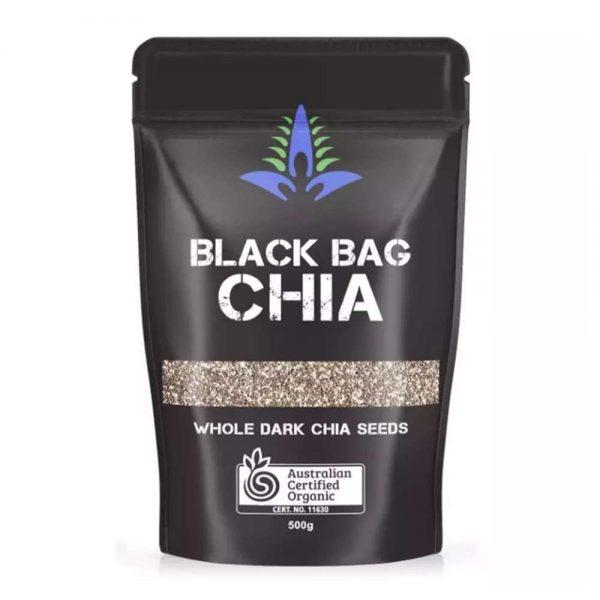Hạt Chia Black Bag 500g nhập khẩu chính hãng từ ÚC hỗ trợ ăn kiêng, giảm cân hiệu quả với các thành phần như Omega 3, chất xơ , Vitamin B1,B3 . Hạt Chia Black Bag 500g nhập khẩu chính hãng, cam kết chất lượng, giá rẻ nhất tại Hà Nội & Tp.HCM.