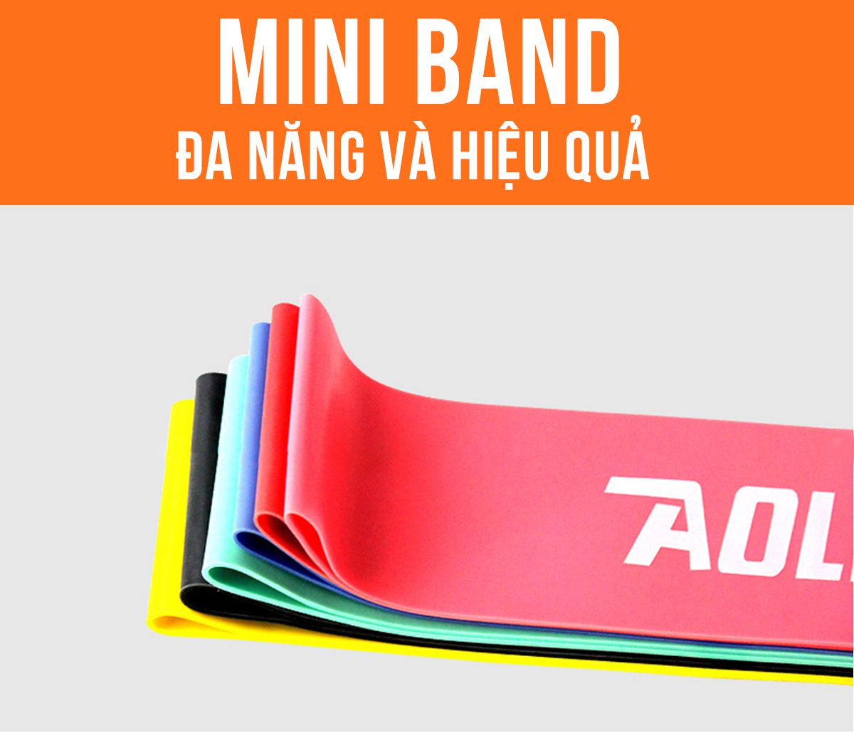 Bộ 6 dây kháng lực mini band aolikes hỗ trợ tập mông hiệu quả, nhập khẩu chính hãng, giá rẻ hà nội tphcm...