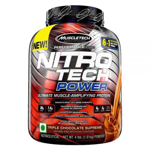 Nitrotech Power 4lbs là sản phẩm kết hợp tăng cơ bắp và sức mạnh hàng đầu của thương hiệu Muscletech, được nhập khẩu chính hãng, giá rẻ nhất Hà Nội TpHCM