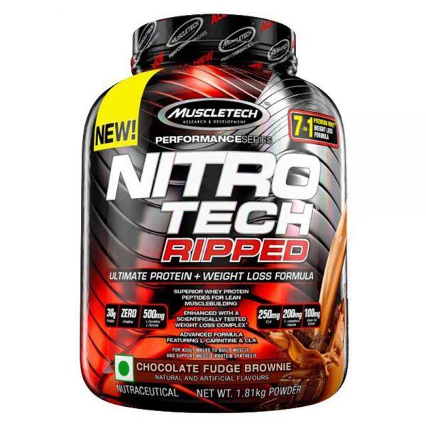 MuscleTech NitroTech Ripped 4lbs cung cấp thành phần thiết yếu trong công cuộc giảm mỡ, tiêu mỡ, đẩy nhanh khả năng cũng như tốc độ phục hồi cơ bắp
