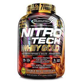 Nitrotech Whey Gold 5.5lbs là sản phẩm phát triển cơ bắp với nguồn protein đa dạng, nhập khẩu chính hãng, giá tốt nhất Hà Nội TPHCM
