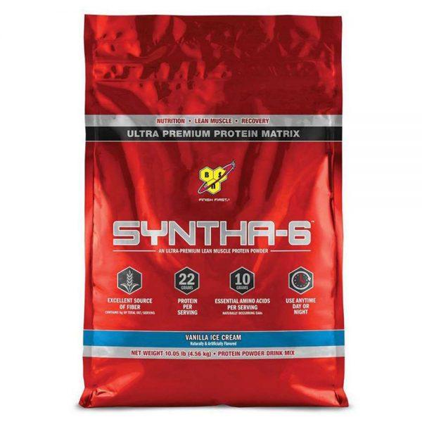 Whey Syntha-6 Isolate bổ sung protein trải dài hấp thu với 6 loại khác nhau, hỗ trợ phục hồi cơ bắp, chống dị hóa cơ bắp, nuôi cơ và phát triển trải dài.