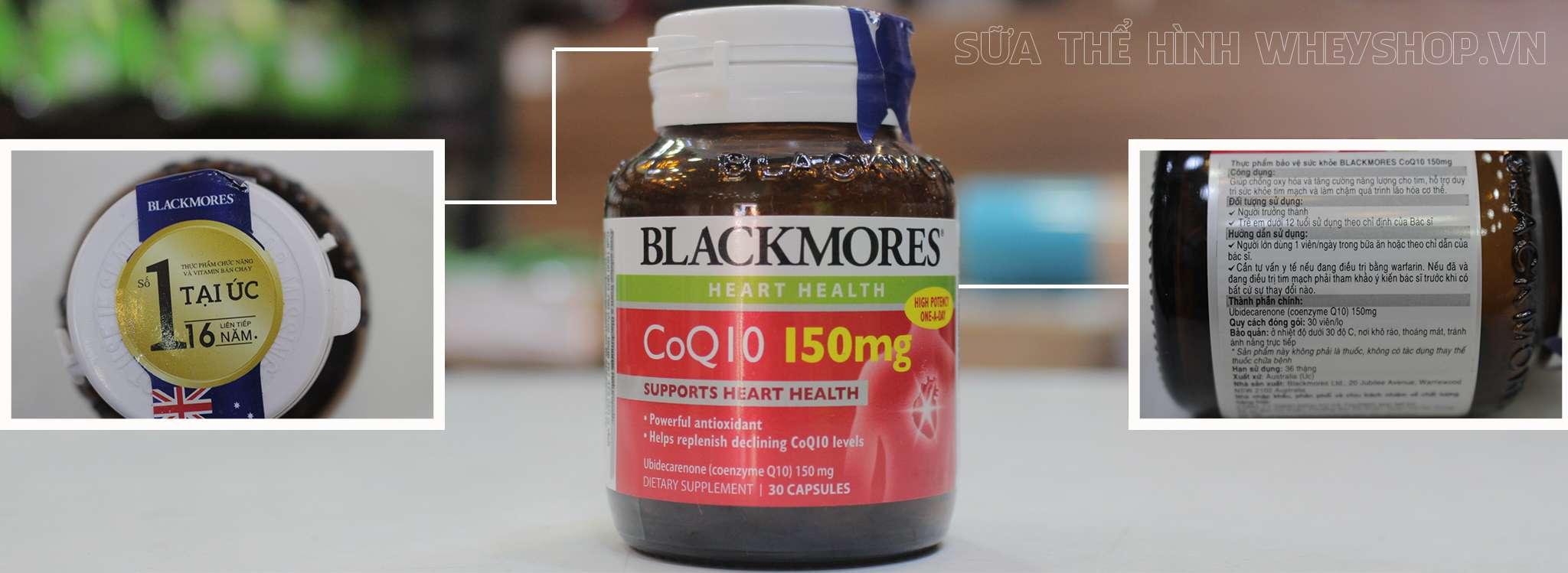 Blackmores CoQ10 150mg 30 vien tem nhan hieu chinh hang tai wheyshop
