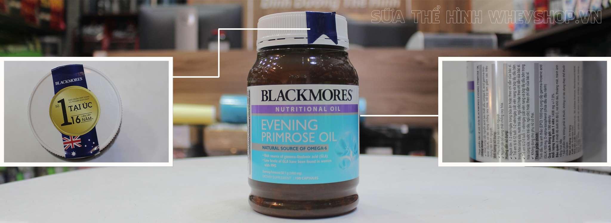 Tinh dầu hoa anh thảo Blackmores Evening Primrose oil ÚC 2019 -Cân bằng hormon môn sinh sản. Giảm các triệu chứng thời kỳ tiền kinh nguyệt (PMS)