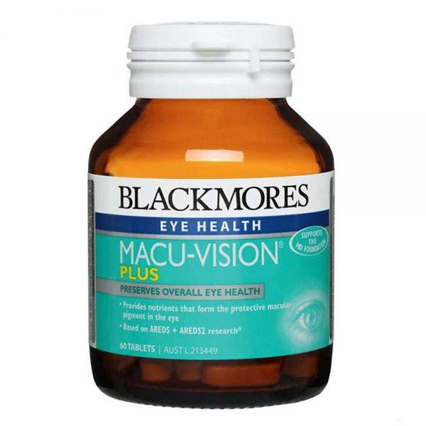 Blackmores Macu Vision Plus là công thức bao gồm vitamin, khoáng chất và chất chống oxy hóa cung cấp các chất dinh dưỡng quan trọng mắt khỏe mạnh