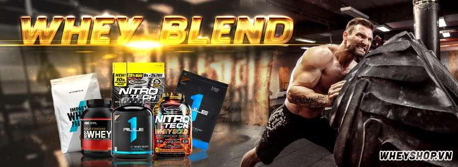 Whey protein blend bao gồm isolate và concentrate vừa đủ nhanh và mạnh để phục hồi cơ bắp vào trong thời điểm vàng trước và sau tập luyện thể hình và buổi tâp luyện thể thao