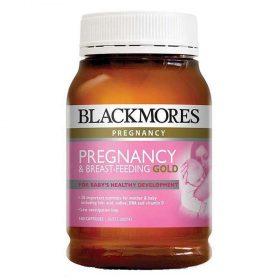 Blackmores pregnancy and breast feeding gold hỗ trợ phát triển trí não, thính lực, thị lực và hệ thần kinh khỏe mạnh dành cho bà bầu và bé.
