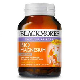 Viên uống bổ sung Blackmores Bio Magnesium giúp xương, răng chắc khỏe, phòng ngừa chuột rút, cải thiện giấc ngủ và phát triển cơ bắp, chính hãng Blackmores.