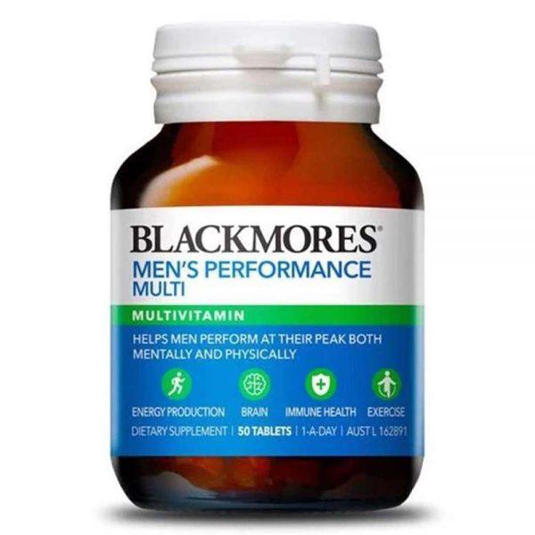 Viên uống cải thiện sinh lý nam giới Blackmores Men's Performance Multi là sản phẩm Vitamin tổng hợp cho nam Blackmore chính hãng, giá rẻ tại Hà Nội, TpHCM.