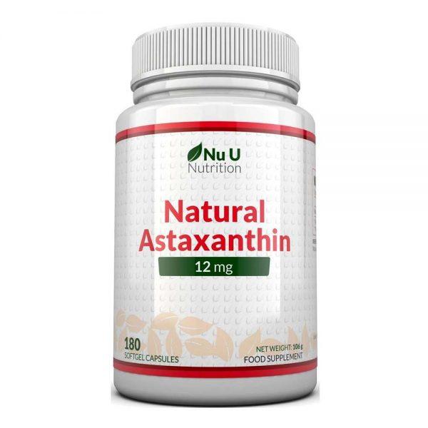 Nu U Astaxanthin 12mg cung cấp hàm lượng lớn Astaxanthin lên tới 12mg mỗi lần dùng, giúp chống oxy hóa, ngăn ngừa gốc tự do và hỗ trợ hệ miễn dịch, làn da, ...