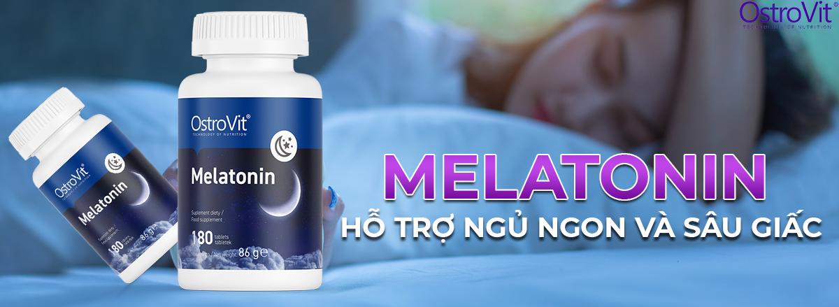 Ostrovit Melatonin hỗ trợ cải thiện giấc ngủ hiệu quả, giúp dễ ngủ hơn, ngủ sâu hơn và phục hồi cơ bắp, giảm stress hiệu quả.
