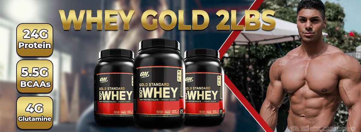 Whey Gold Standard 2lbs là sản phẩm Whey Protein tăng cơ truyền thống size nhỏ của hãng ON. Whey Gold Standard 2lbs nhập khẩu chính hãng, giá rẻ tại Hà Nội TpHCM