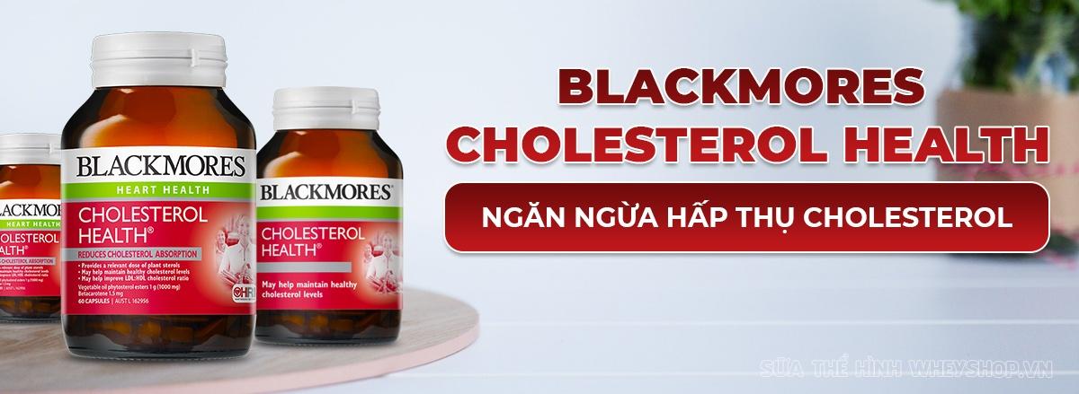 Viên uống giảm mỡ máu Blackmores Cholesterol Health của Úc bổ sung sterol, beta caroten từ thực vật hỗ trợ làm giảm sự hấp thụ cholesterol xấu hiệu quả...