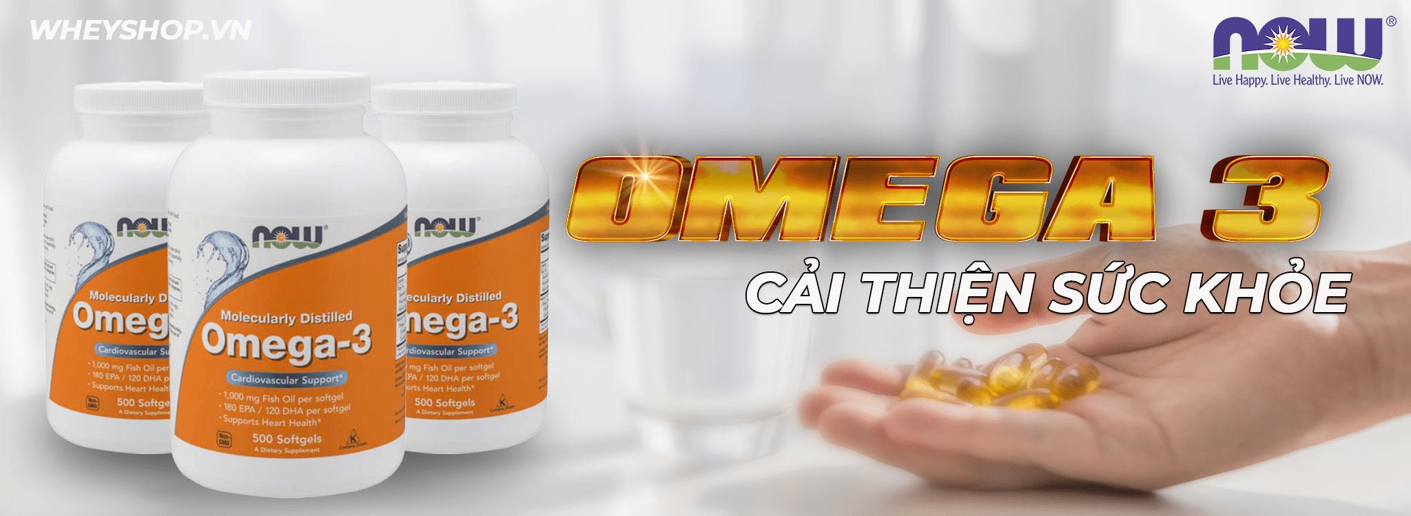Now Omega 3 500 viên là sản phẩm bổ sung chất béo tốt thiết yếu có lợi cho sức khỏe. Now Omega 3 500 viên giá rẻ, chính hãng, cam kết chất lượng, hiệu quả...