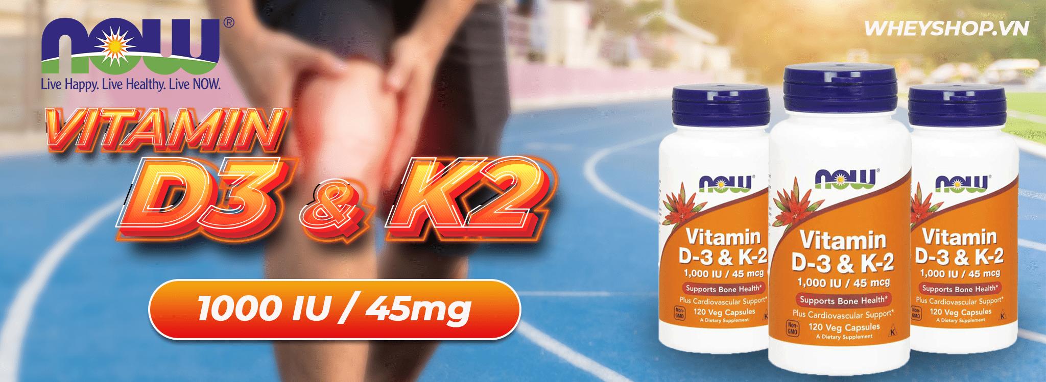Now Vitamin D3 K2 là sự kết hợp hoàn hảo hỗ trợ xương khớp chắc khỏe, phát triển toàn diện, bảo vệ sức khỏe tổng thể, tăng đề pháng, phòng ngừa xơ vữa động mạch