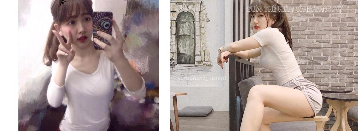 Nguyễn Thị Thùy Trang là cô nàng 3 vòng như 1 đã thay đổi chóng mặt 180 độ nhờ tập gym như thế nào. Hãy cùng WheyShop tìm hiểu bí quyết ...