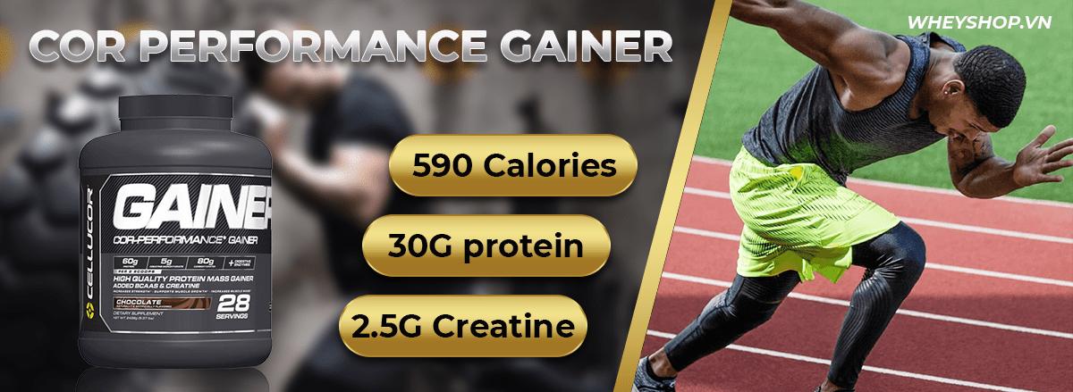 COR Performance Gainer là sản phẩm tăng cân tăng cơ nạc hàng đầu. COR Gainer được nhập khẩu chính hãng, cam kết giá rẻ ưu đãi tại Hà Nội TpHCM