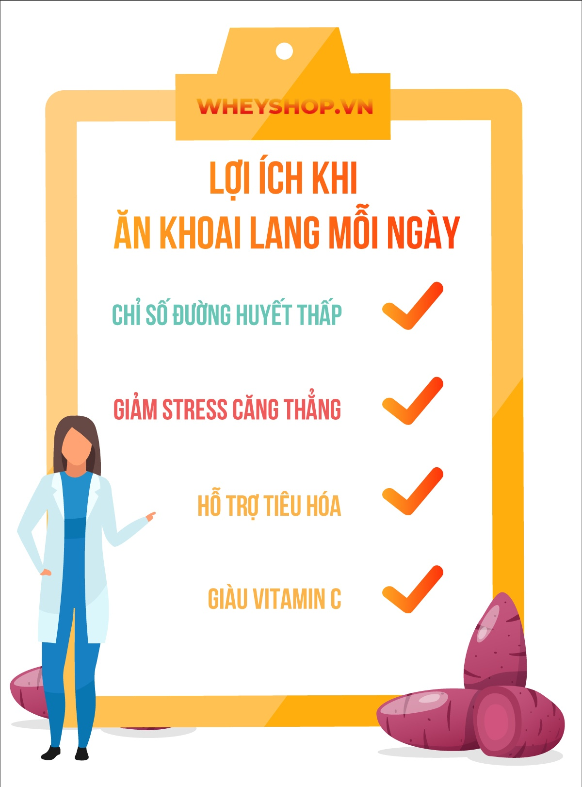 Khoai lang có phải thực phẩm giảm cân hiệu quả? Khoai lang bao nhiêu calo? Tìm hiểu ngay bài viết về cách giảm cân với khoai lang...