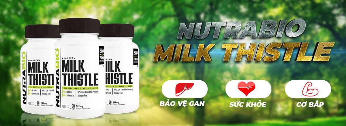 NutraBio Milk Thistle cung cấp 100% chiết xuất kế sữa, hỗ trợ phục hồi chức năng gan, bảo vệ gan khỏe mạnh, cải thiện sức khỏe tổng thể....