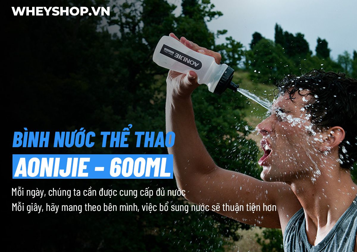 Bình nước thể thao Aonijie SH600 là mẫu bình nước nhập khẩu cao cấp hỗ trợ dung tích tới 600ml cho người chơi thể thao, chạy bộ, đạp xe,... giá rẻ tốt nhất...