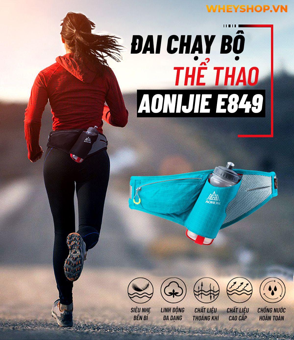 Đai chạy bộ thể thao Aonijie E849 là mẫu đai chạy bộ hỗ trợ đựng đồ và bình nước dung tích tới 600ml. Sản phẩm nhập khẩu chính hãng, giá rẻ tốt nhất Hà Nội...