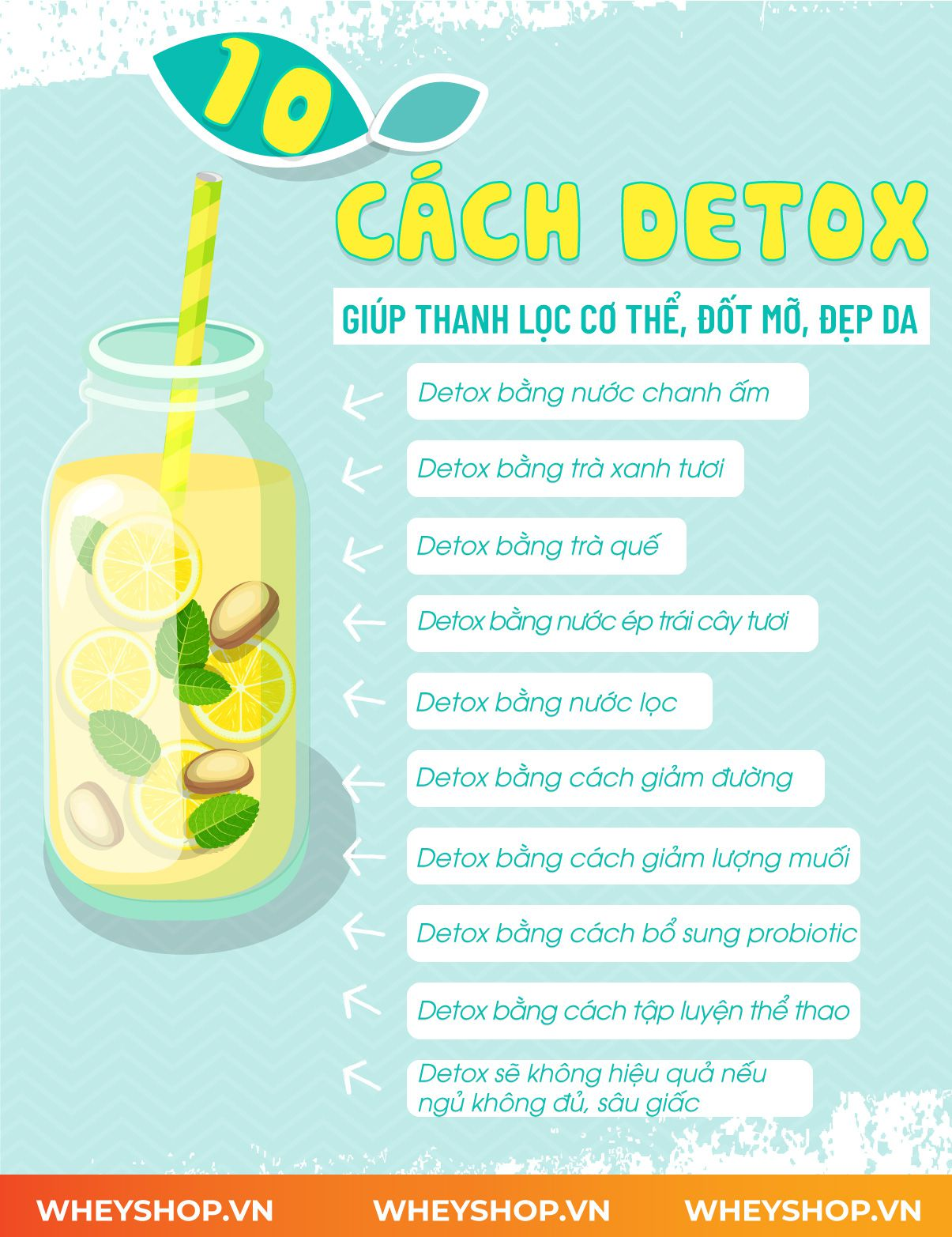 Detox là gì? Hãy cùng WheyShop tìm hiểu khái niệm chi tiết về Detox là gì và các phương pháp detox thanh lọc cơ thể, giảm mỡ hiệu quả qua bài viết...