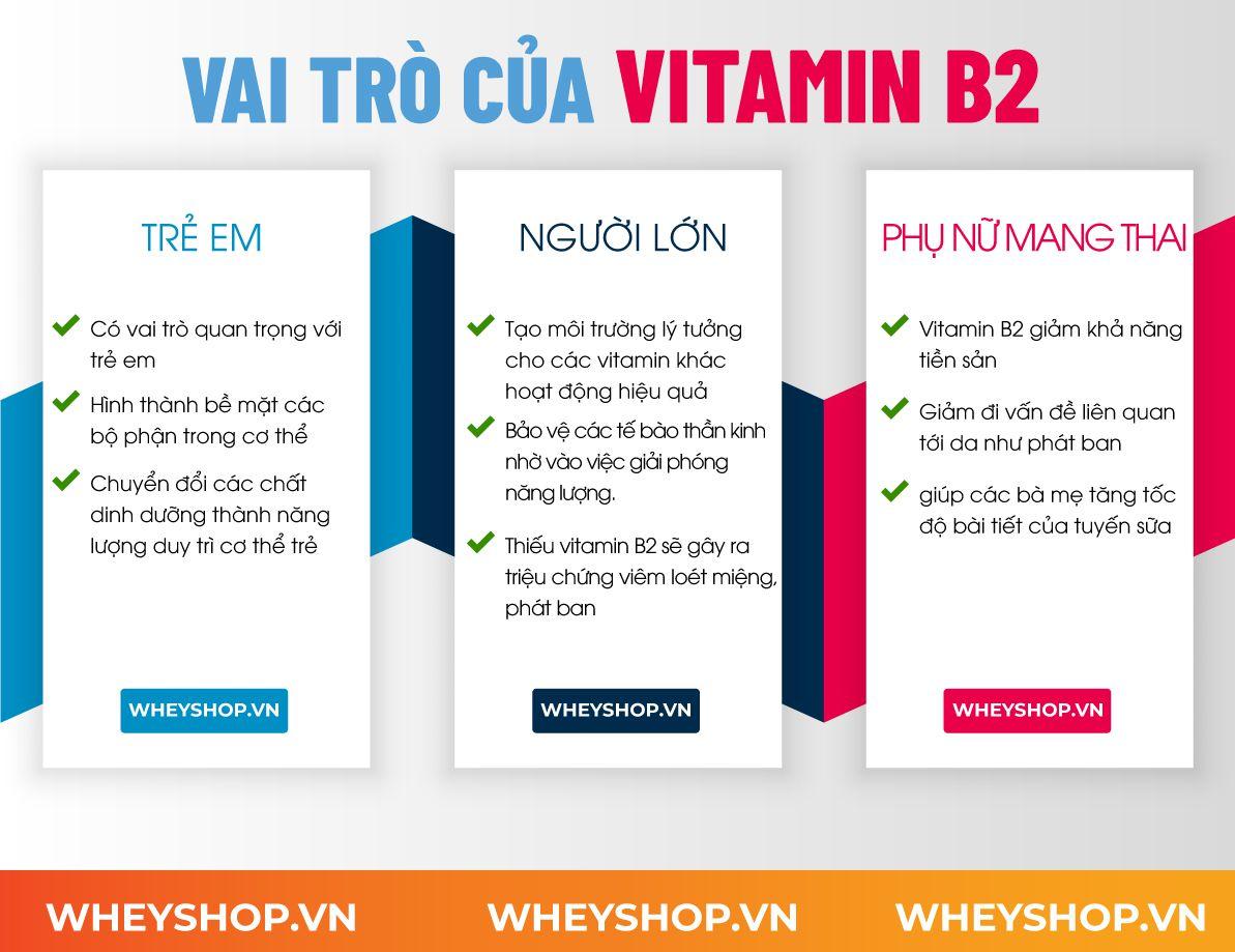 Nếu bạn đang băn khoăn về lợi ích của Vitamin B2 thì hãy cùng WheyShop tìm hiểu chi tiết qua bài viết ngay sau đây nhé...