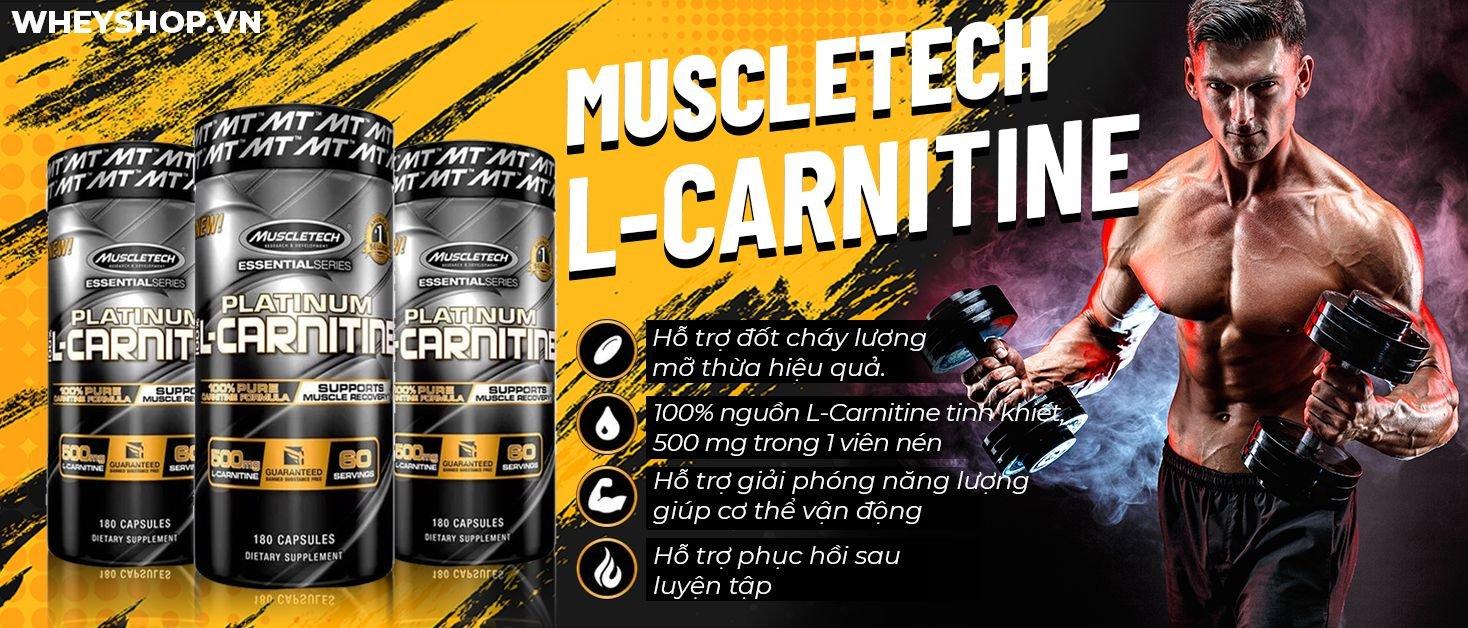 Muscletech Platinum L-Carnitine hỗ trợ chuyển hoá mỡ thừa lành tính, hiệu quả. Sản phẩm được nhập khẩu chính hãng, cam kết giá rẻ, tốt nhất Hà Nội TpHCM