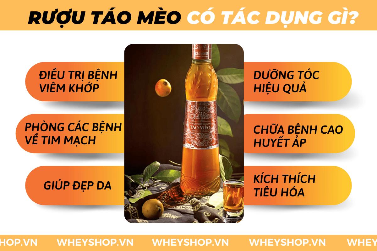 Nếu bạn đang băn khoăn về Rượu táo mèo có tác dụng gì thì hãy cùng WheyShop tham khảo chi tiết bài viết ngay sau đây để...