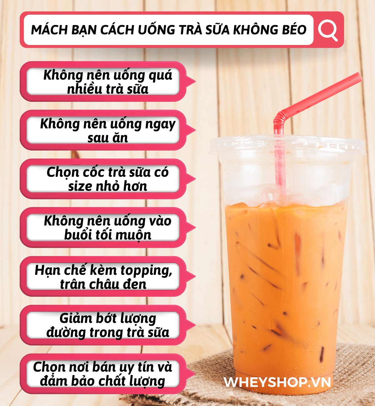 Nếu bạn đang phân vân về trà sữa bao nhiêu calo thì hãy cùng WheyShop tìm hiểu chi tiết qua bài viết sau uống trà sữa có mập không nhé...