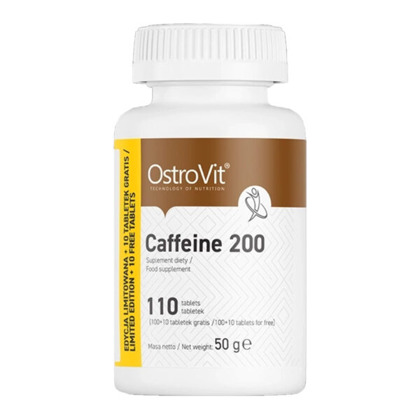 Ostrovit Caffeine 200 tăng khả năng tập trung, tỉnh táo, giảm mệt mỏi, buồn ngủ hiệu quả. Sản phẩm nhập khẩu Ba Lan, cam kết giá rẻ, tốt nhất tại Hà Nội, TpHCM
